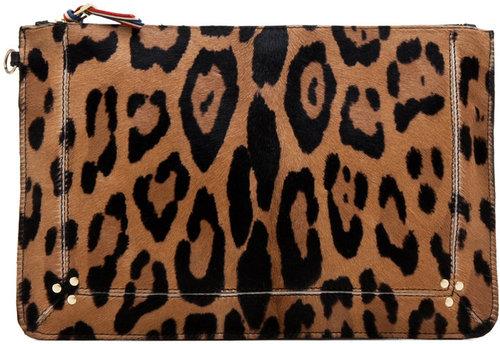 Jerome Dreyfuss Large Popoche Clutch in Leopard