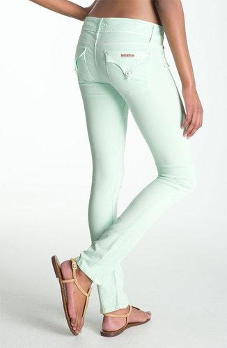 Hudson Jeans Skinny Stretch Jeans (Mint)