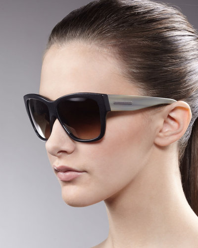 Alexander McQueen Contrast-Arm Sunglasses