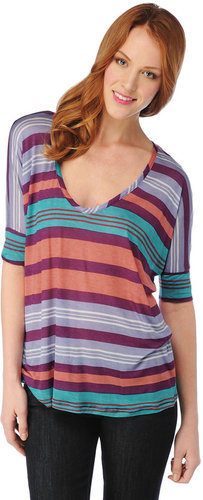 Beach Towel Stripe Boxy Top