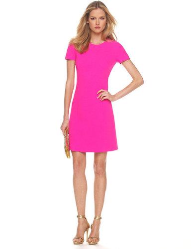 Michael Kors Stretch Boucle Dress, Neon