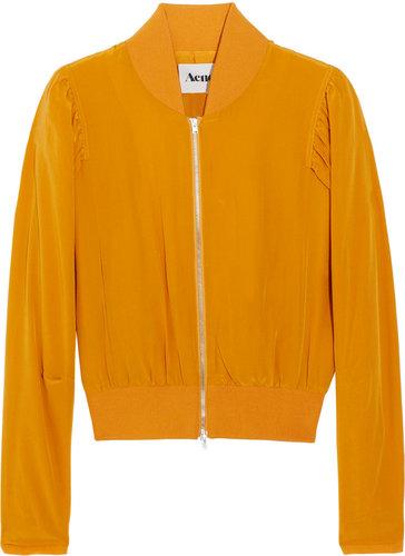 Acne Corinne silk bomber jacket