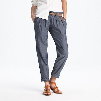 Chambray cinch pant