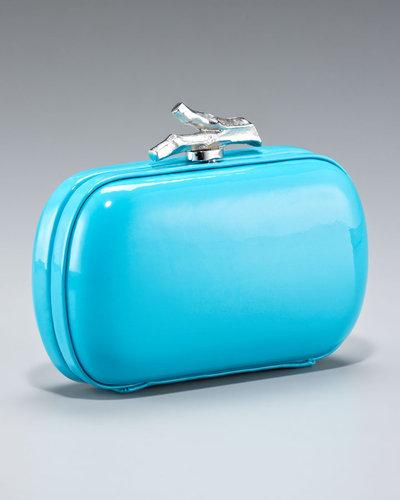 Diane von Furstenberg Lytton Patent Minaudiere,Turquoise