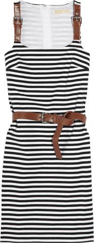 MICHAEL Michael Kors Striped stretch-jersey dress
