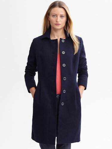 Textured cotton coat