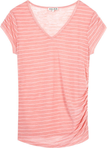 Wren RUCHED STRIPE T-SHIRT