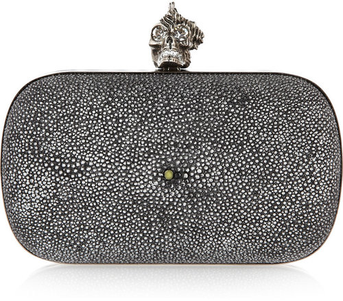 Alexander McQueen Punk Shell stingray box clutch