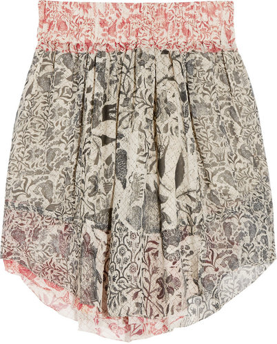 Isabel Marant Vutti printed silk-georgette skirt