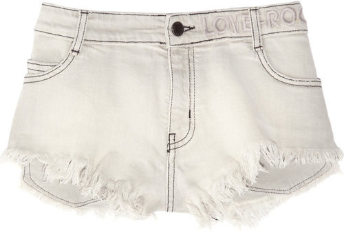 Zadig & Voltaire Paly frayed stretch-denim micro shorts