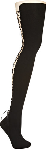 Wolford Brilliant lace-up tights