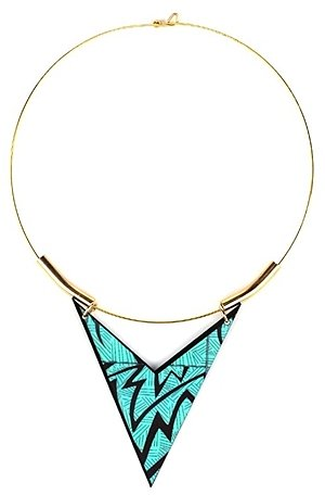 Chevron Triangle Choker-Aqua