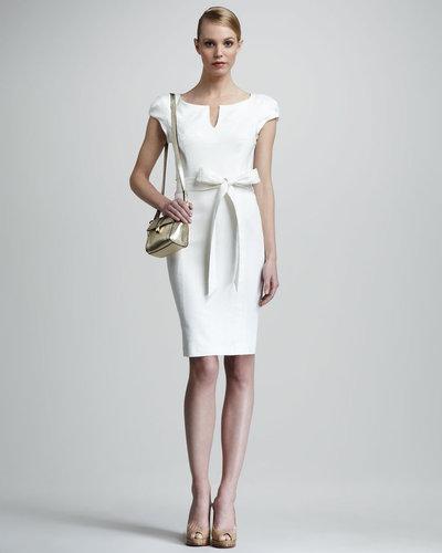 Milly Haley Sheath Dress, Ivory
