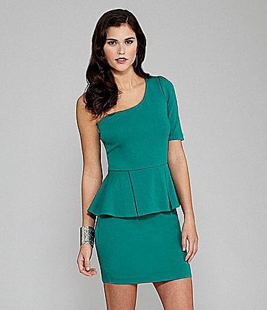 Gianni Bini Jayson One-Shoulder Peplum Dress