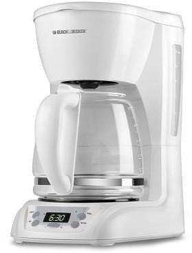 BLACK & DECKER 12-Cup Programmable Coffeemaker, White