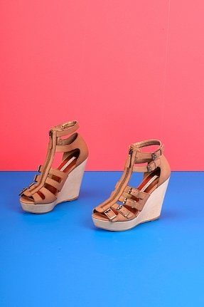 Twelfth Street by Cynthia Vincent Luella Wedge Sandals in Nude