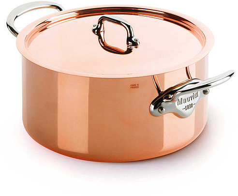Mauviel M'heritage M150s Copper Stew Pot/Dutch Oven, Cast Stainless Steel Handles