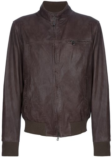 Dell'oglio leather bomber jacket