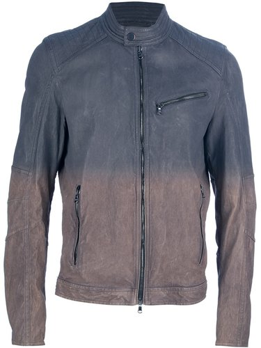 Drome gradient leather jacket