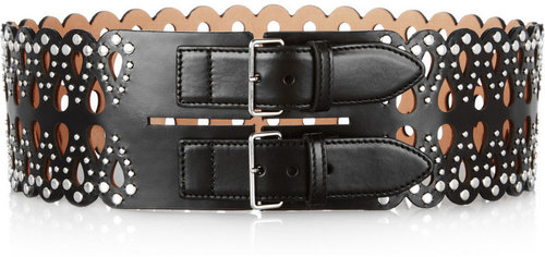 Alaïa Studded laser-cut leather waist belt