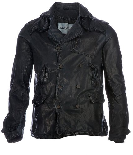Giorgio Brato washed leather jacket
