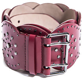 Azzedine Alaia Scallop edge studded belt