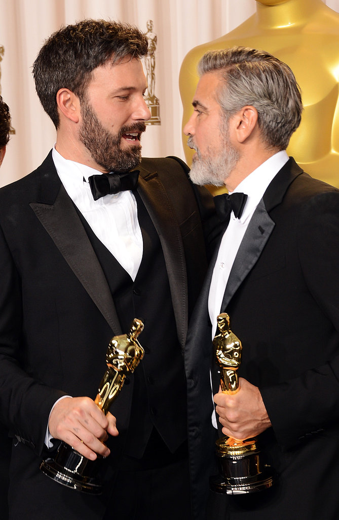 Ben Affleck and George Clooney celebrated their Argo success.