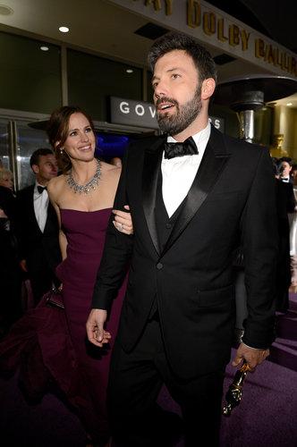 Ben Affleck and Jennifer Garner arrived at the Governors Ball together after the Oscars.