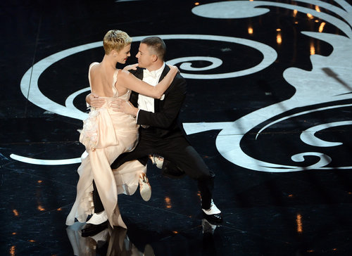 Charlize Theron and Channing Tatum shared a romantic dance on stage during the Oscars.