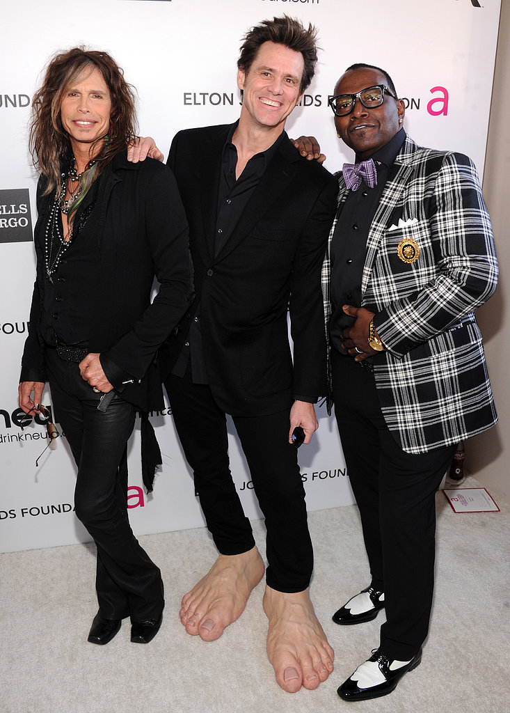 Steven Tyler, Jim Carrey and Randy Jackson