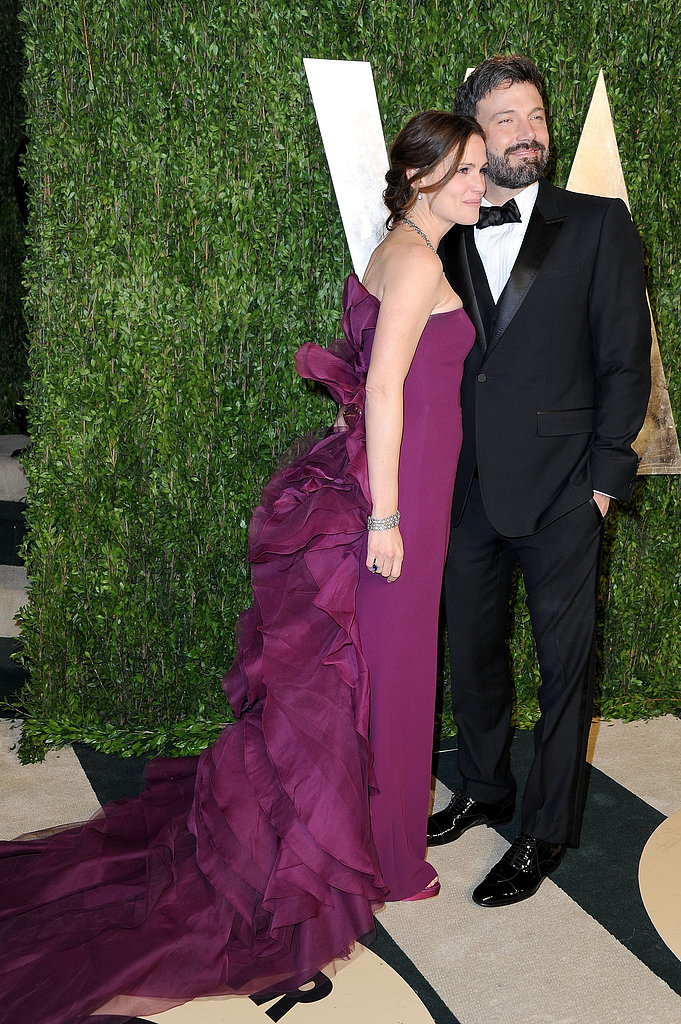 Ben Affleck and Jennifer Garner smiled on their way into the  Vanity Fair after-party.