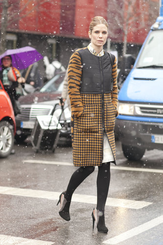 Who knew houndstooth and tiger print paired so well on one great coat.