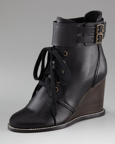 See by Chloe Lace-up Wedge Bootie
