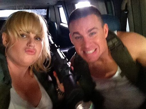 Rebel Wilson and Channing Tatum coined their new nickname, Chebel. Source: Twitter user RebelWilson