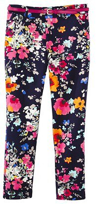 Merona® Women's Tailored Ankle Pant w/Belt (Fit 2) - Navy Floral