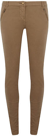 Khaki zip pocket trouser