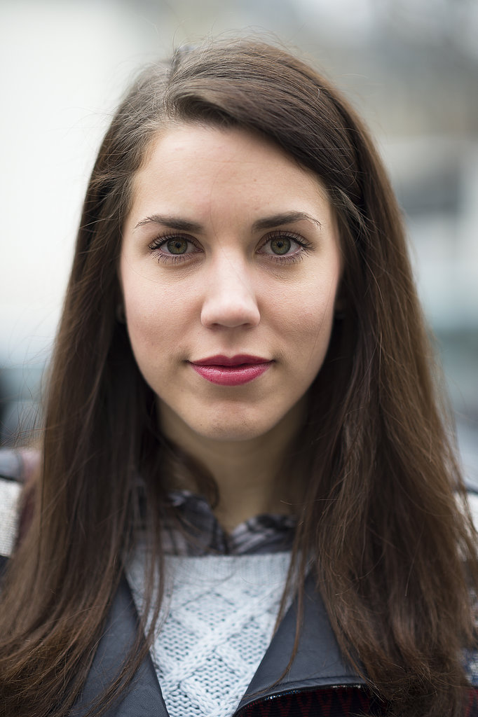 Laura Babin used a heavy hand with her mascara wand, pairing it with a glossy pink lip for the ultimate feminine facade.  Source: Le 21ème   Adam Katz Sinding