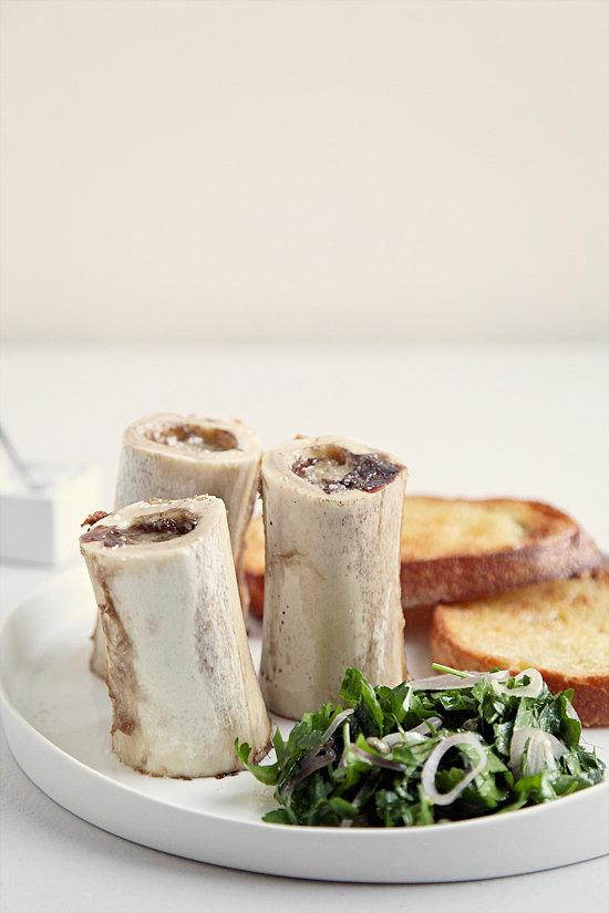 Roasted Bone Marrow With Parsley Salad