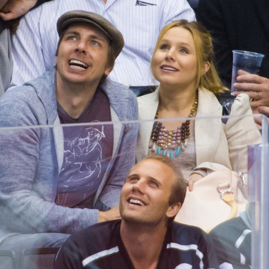 Pregnant Kristen Bell Pictures and Dax Shepard at the Hockey