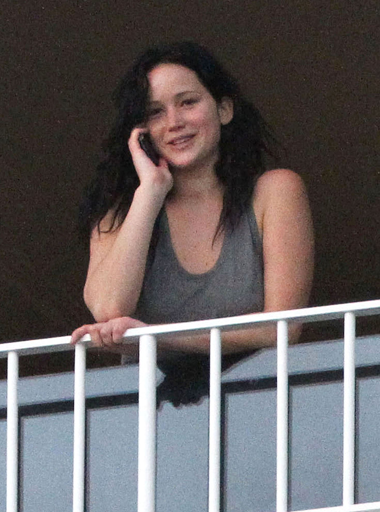 Jennifer talked on her cell in Hawaii on Tuesday.