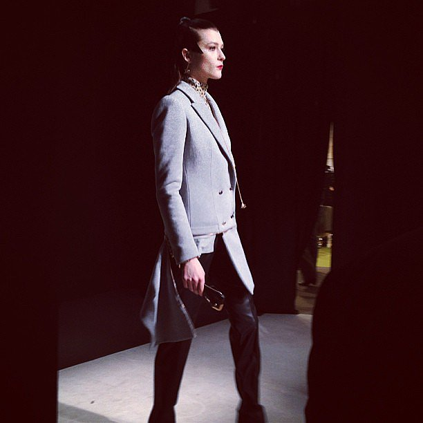Borrowing from the boys gets ultrachic when it's done by Alexis Mabille.