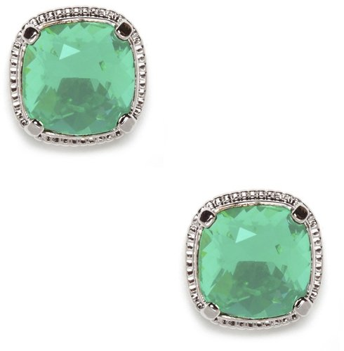 Emerald Cushion Studs