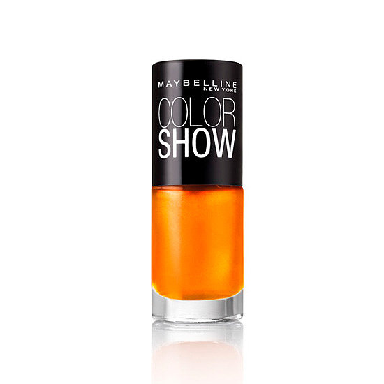 Maybelline's Electric Collection Color Show in Extreme Orange ($4 at drugstores) adds the perfect amount of metallic to an already vibrant tangerine hue. But you better pick it up soon, because this limited-edition collection is only available during the month of March.