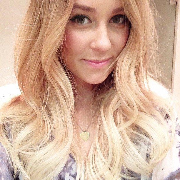 Look whose gone even more blonde! Lauren Conrad showed off her latest ombré dye job. Source: Instagram user laurenconrad