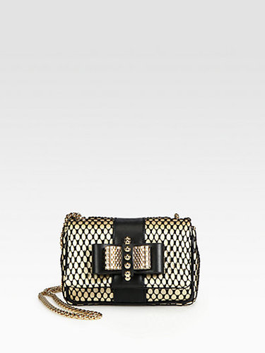 Christian Louboutin Sweet Charity Lace Shoulder Bag