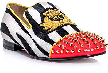 Christian Louboutin Harvanana zebra ponyskin loafer