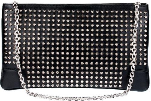 Christian Louboutin Loubiposh spikes leather clutch