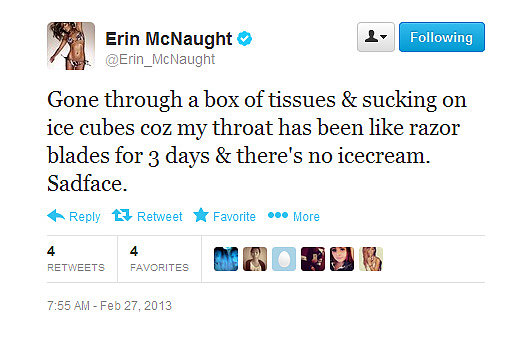 We'd also have sad faces if there was no ice-cream, Erin.