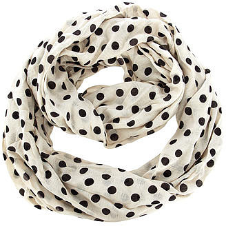 Kardashian white polka snood