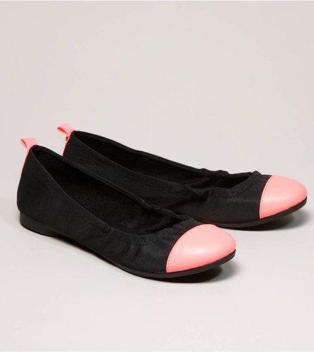 AEO Neon Cap-Toe Ballet Flat